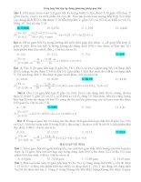 Tổng hợp bài tập hoá học áp dụng phương pháp quy đổi