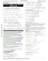 Bộ tài liệu ôn thi đại học môn toán phần đại số lớp 10