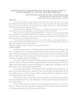 NGHIÊN CỨU SỰ ĐA DẠNG VỀ THÀNH PHẦN LOÀI RONG MƠ VÀ PHÂN BỐ CỦA NÓ Ở NAM HẢI VÂN VÀ BÁN ĐẢO SƠN TRÀ