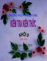 Kiểm tra kiến thức HKII khối 9 (09-10)