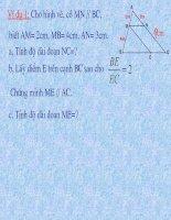 ôn tập chương 3 hình học 8 hay