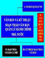 Van ban & Kỷ thuật soạn thảo văn bản QLHCNN