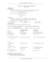 Chuyên đề hóa hữu cơ bồi dưỡng HSG phần AMIN  AMINOAXIT