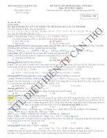 phân tích và giải chi tiết đề khối a 2014