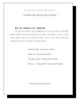 SỬ DỤNG VIDEO, THÍ NGHIỆM ảo và các HÌNH ẢNH PHÙ hợp NHẰM NÂNG CAO kết QUẢ học tập môn vật lý của học SINH lớp 12a1 TRƯỜNG THPT số 3 văn bàn