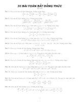 30 bài toán bất đẳng thức