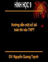5 BAI TOAN HINH ON THI VAO THPT