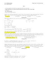 đề thi thử đại học hóa học 2015