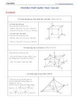 Phương pháp dựng trục tọa độ trong bài Hình học không gian (New)
