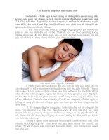5 lời khuyên giúp bạn ngủ nhanh hơn