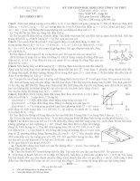 đề thi và đáp án HSG vật lý 11 Hà Tĩnh 2014