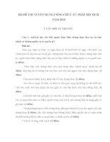 BỘ đề THI TUYỂN DỤNG CÔNG CHỨC tư PHÁP hộ TỊCH năm 2010 (có đáp án và biểu điểm)