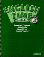 english time 3 teachers book