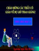 Tiết 18: Phản ứng hóa học
