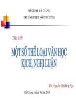 Mot so the loai van hoc: Kich-Nghi luan
