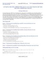 Sử dụng phương trình tổng quát của mặt phẳng để viết phương trình mặt phẳng