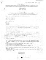 tài liệu ôn thi công chức trắc nghiệm tin học 4