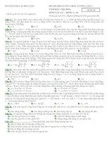 đề thi thử ĐH  CĐ môn vật lý số 2  có đáp án chi tiết