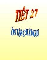 Tiết 27 Ôn tập chương II