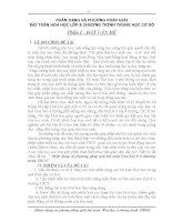 skkn phương pháp giải bài toán hoá học lớp 8