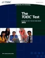 the toeic test report on test takers worldwide 2012 listening and reading