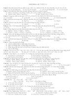 100 câu trắc nghiệm điện ly