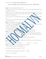 Lý thuyết mẫu nguyên tử Bo và quang phổ Hidro