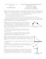đề thi và đáp án HSG vật lý 10 Hà Tĩnh 2014