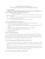 ĐỀ CƯƠNG ôn THI TUYỂN DỤNG GIÁO VIÊN MN, TIỂU học 2014 (phần 2)