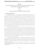 đề tài một vài biện pháp giúp học sinh tự học tốt một tiết ngữ văn trong trương trình ngữ văn 7