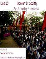Unit 15: Part A - Reading