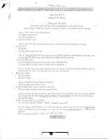 tài liệu ôn thi công chức trắc nghiệm tin học 5