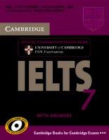 Giáo trình luyện thi IELTS Cambridge IELTS 7