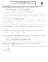 các bài tập  vật lý hay khó lạ