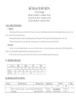 Kế hoạch giảng dạy bộ môn vật lý khối 6 9