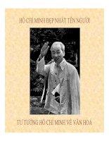 Bài giảng Tư tưởng Hồ Chí Minh: Bài 7 văn hóa  Nguyễn Thị Hồng