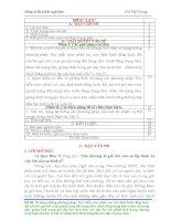 skkn sử dụng những phương pháp đọc diễn cảm phân vai hành động trung tâm  nhân vật trung tâm, giảng bình trong giờ dạy học kịch bản