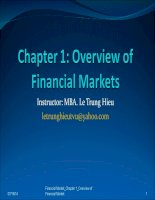 Chapter 1 overview of financial market