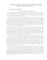 MỘT SỐ BÀI TẬP GIÚP HỌC SINH KHIẾM THỊ LỚP 1  RÈN LUYỆN CƠ BÀN TAY
