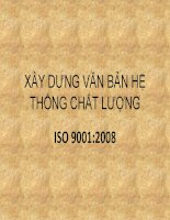 Bài giảng Xây dựng văn bản hệ thống chất lượng ISO 9001:2008