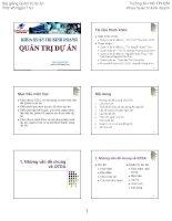 Bài giảng Quản trị dự án  Võ Ngàn Thơ