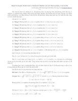 các bài toán bất phương trình, phương trình chứa tham số