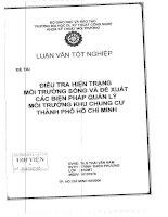 Điều tra hiện trạng môi trường sống và đề xuất các biện pháp quản lý môi trường khu dân cư thành phố Hồ Chí Minh