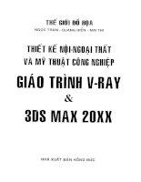 Giáo trình VRay và 3DS MAX 20XX bao gồm 19 Bài