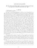SÁNG KIẾN KINH NGHIỆM  ĐỀ TÀI: NHỮNG GIẢI PHÁP NÂNG CAO CHẤT LƯỢNG GIẢNG DẠY CỦA ĐỘI NGŨ GIÁO VIÊN Ở TRƯỜNG TIỂU HỌC