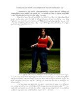 những sai lầm ít ai biết không giảm cân