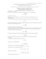 câu hỏi trắc nghiệm vật lý 11 nâng cao