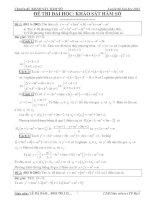 Tuyển chọn các bài toán về khảo sát hàm số có lời giải