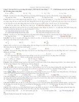 các dạng toán lý dao động có đáp án