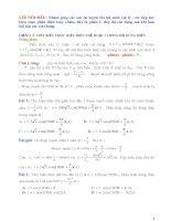 bài tập và hướng dẫn giải phần dòng điện xoay chiều